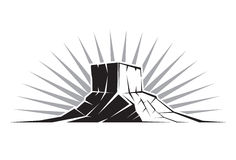 Rock Formation Utah. Illustration of a Rock Formation in Utah Royalty Free Stock Photo