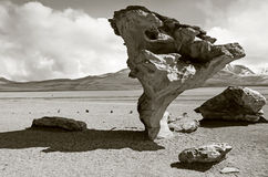 Rock formation in Uyuni, Bolivia Royalty Free Stock Image