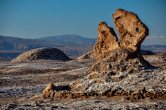 Rock formation in Valle de la Luna near San Pedro de Atacama, Ch Stock Photography