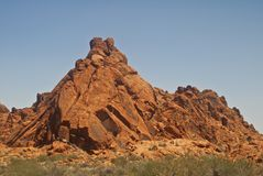 Rock Formation from Valley of Fire Royalty Free Stock Photography