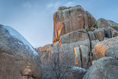 Rock formation in Vedauwoo Recreation Area Royalty Free Stock Image