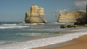 Rock formation viewed from gibson`s steps beach at the twelve apostle on the great ocean road. Victoria royalty free stock photos