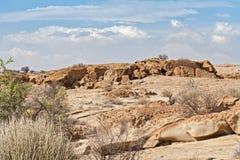 Rock formation,Welwitschia Plains, Namibia Stock Photography