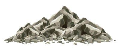 Rock formation vector illustration
