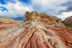 Rock formation at the White Pocket, Paria Plateau in Northern Arizona Stock Image