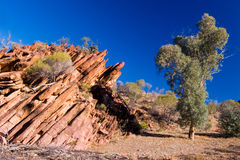 Rock Formation in Wilkawillina Gorge Royalty Free Stock Images