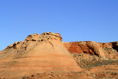 Rock Formations 1. Rock formations in rich golden colors in the Arizona desert Stock Photos