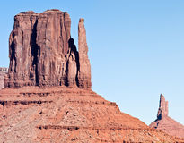 Rock formations. Monument valley utah and arizona natural rock formations Stock Images