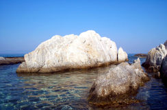 Rock formations 2. Interesting rock formations in a quiet bay Stock Photos