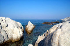 Rock formations 3. Interesting rock formations in a quiet bay stock images