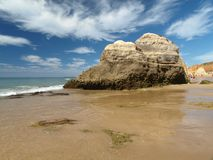 Rock formations on the Algarve coast Royalty Free Stock Photo