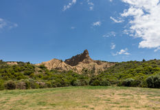Rock formations at Anzac cove. In Gallipoli where allied troops fought in World War 1 Royalty Free Stock Photo