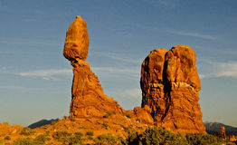 Rock formations in Arches National Forest Royalty Free Stock Photos