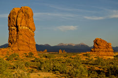 Rock formations in Arches National Forest Stock Images