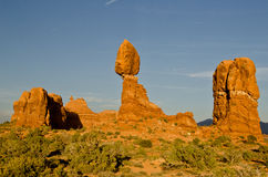 Rock formations in Arches National Forest Royalty Free Stock Photography