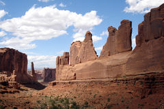 Rock formations, Arches National Park Royalty Free Stock Images