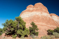 Rock formations in Arches National Park Royalty Free Stock Photo