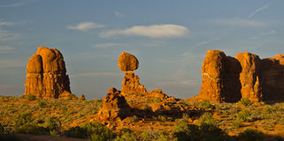 Rock formations in Arches National park Stock Images