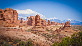 Rock Formations in Arches national Park Royalty Free Stock Image