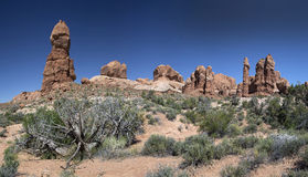 Rock Formations in Arches National Park Royalty Free Stock Photography