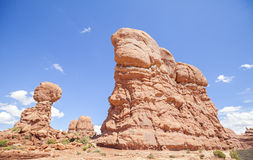 Rock formations in Arches National Park, USA Stock Image