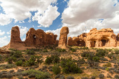 Rock formations in Arches National Park, USA Royalty Free Stock Images