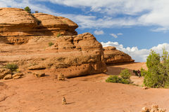 Rock formations in Arches National Park, USA Royalty Free Stock Image