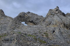 Rock Formations in the Arctic Stock Images