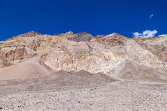 Rock formations artists drive in the Death Valley Royalty Free Stock Photo