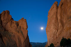 Rock Formations At Night Stock Photography