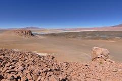Rock formations. In the Atacama desert Stock Image