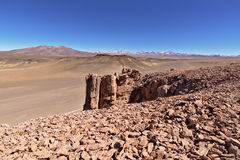 Rock formations. In the Atacama desert Royalty Free Stock Images