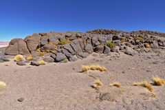 Rock formations. In the Atacama desert Royalty Free Stock Image