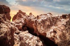 Rock formations of the Atacama desert Stock Photos
