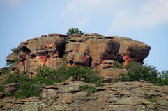 Rock formations in Belogradchik, Bulgaria Royalty Free Stock Images