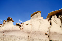 Rock formations at Bisti Wilderness Stock Photography