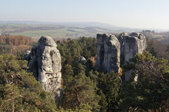 Rock formations - Bohemian Paradise Royalty Free Stock Photo