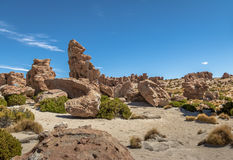 Rock formations in Bolivean altiplano - Potosi Department, Bolivia Royalty Free Stock Photo