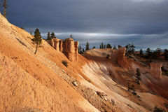 Rock formations in Bryce National Park Royalty Free Stock Photography