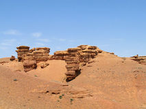 Rock formations in Canyon Charyn Royalty Free Stock Photo
