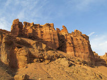Rock formations in Canyon Charyn (Sharyn) National Park Royalty Free Stock Photos