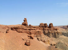 Rock formations in Canyon Charyn (Sharyn) National Park Royalty Free Stock Image