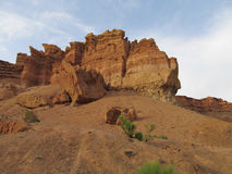 Rock formations in Canyon Charyn (Sharyn) National Park Stock Images