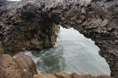 Rock formations in Cape Dyrholaey Stock Photography