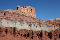 Rock Formations in Capital Reef National Park, Utah. The Highly Eroded Red Rock Formation in Capital Reef National Park, Utah Stock Photography