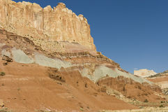 Rock formations of Capitol Reef Stock Image