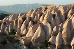 Rock Formations In Cappadocia Royalty Free Stock Photos