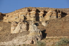 Rock Formations in Cappadocia. Fairy Mysterious Rock Formations in Cappadocia, Anatolia Stock Images