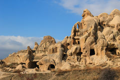 Rock formations at Cappadocia, Anatolia, Turkey Stock Photos