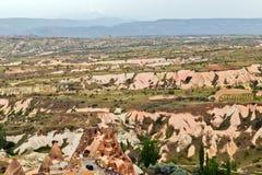 Rock formations in Cappadocia, Anatolia, Turkey. Goreme national Royalty Free Stock Image